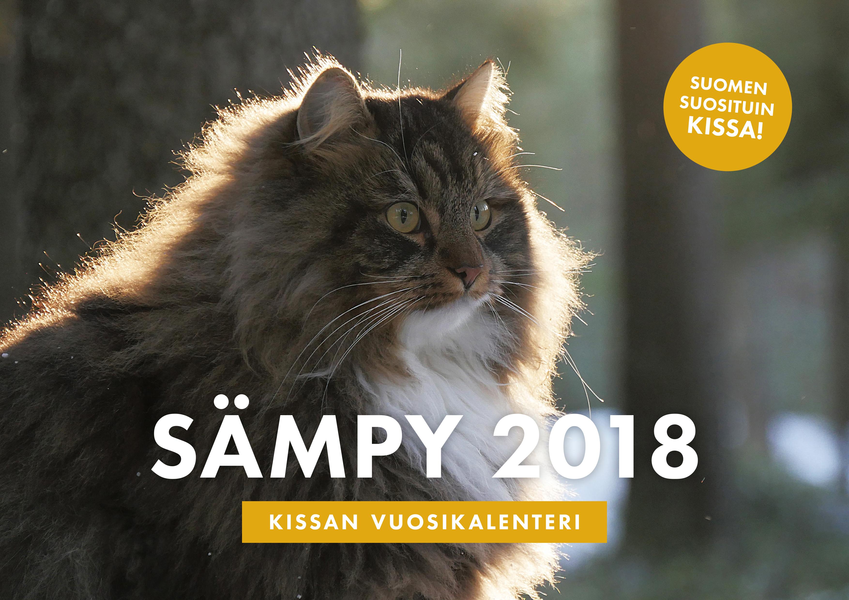 Sämpy – Kissan vuosikalenteri 2018